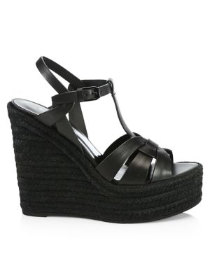 Tribute Leather Espadrille Wedge Sandals