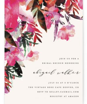 Tropic Drape Bridal Shower Invitations