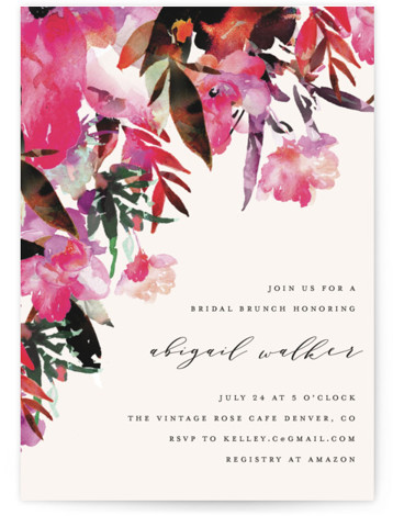 Tropic Drape Bridal Shower Invitations