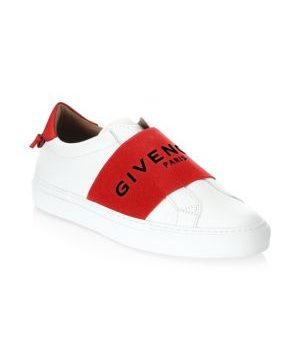 Urban Street Logo Strap Leather Sneakers