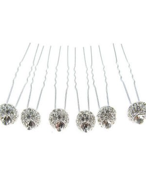 Vieste Rosa 6-pc. Hair Pins, One Size , White