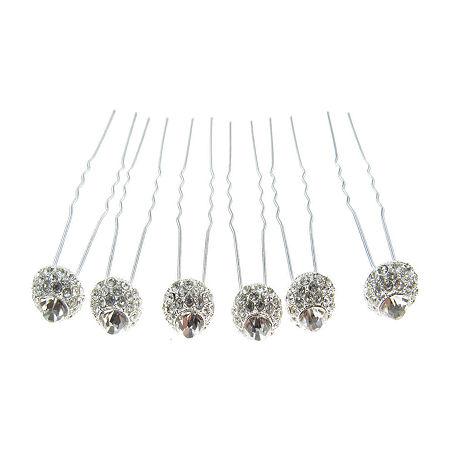 Vieste Rosa 6-pc. Hair Pins, One Size , White