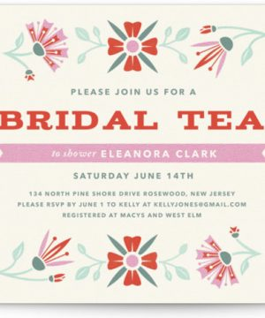 Vintage Bridal Tea Bridal Shower Invitations