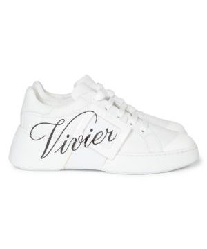 Viv Skate Logo Leather Sneakers