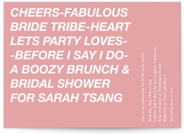 Vogue Bridal Shower Invitations