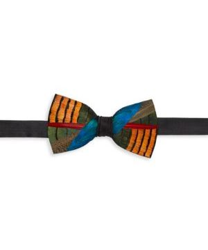 Wayfair Grosgrain, Pheasant & Peacock Feather Bow Tie