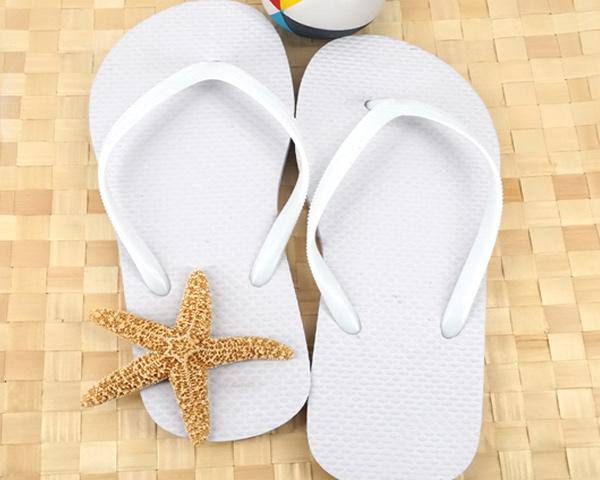 Wedding Flip Flops (Black or White Available) / 6 Pairs