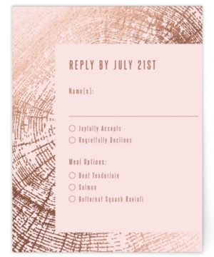 Wedding Rings Foil-Pressed RSVP CardsP Cards