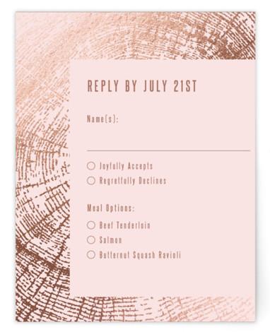 Wedding Rings Foil-Pressed RSVP CardsP Cards