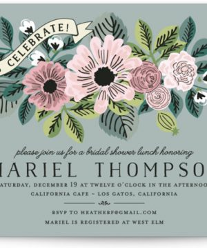 Wedding Trellis Bridal Shower Invitations