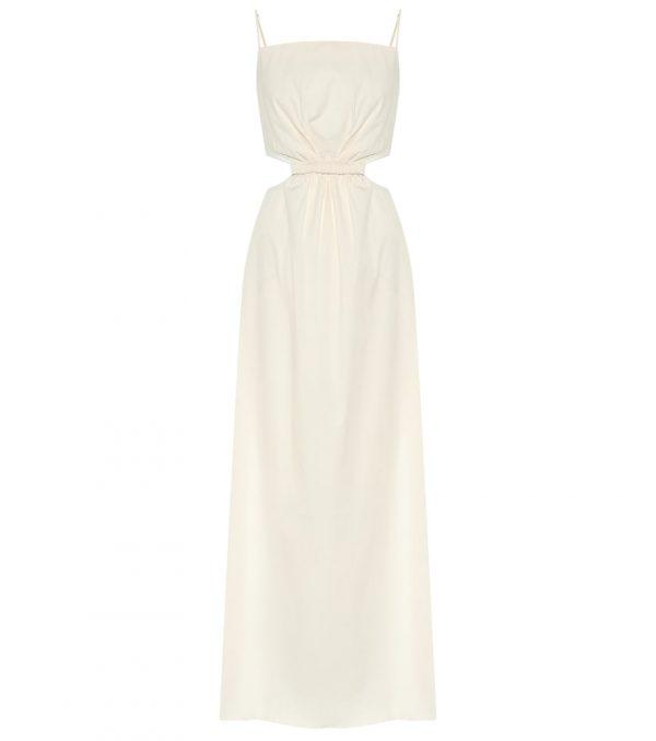 White Sand stretch-cotton maxi dress