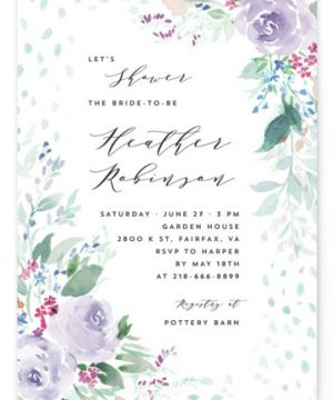 Wild And Beautiful Bridal Shower Invitations