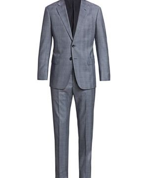Windowpane Virgin Wool Suit