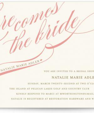 Winter Flourish Bridal Shower Invitations