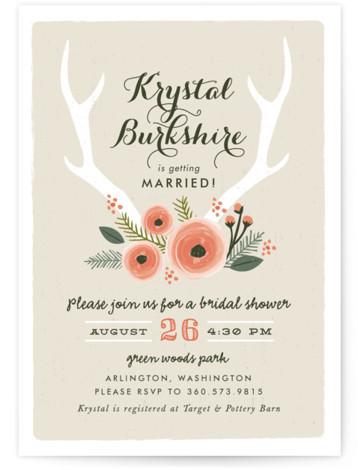 Woodland Fairytale Bridal Shower Invitations