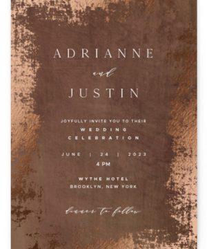 Woodland Hills Foil-Pressed Wedding Invitations