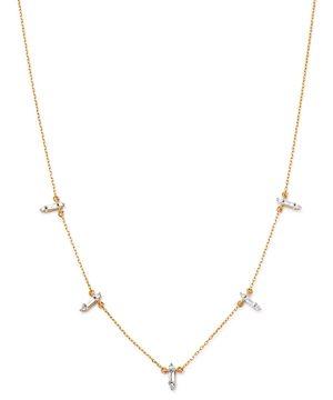 Adina Reyter 14K Gold & Diamond Stick Pendant Necklace, 15