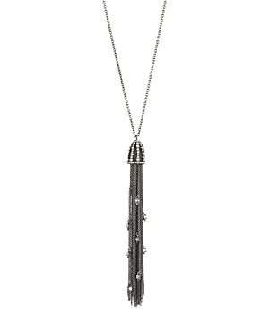Alexis Bittar Cascading Crystal Tassel Pendant Necklace, 32