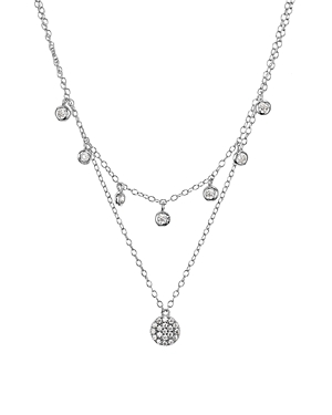 Aqua Sterling Silver Layered Pendant Necklace, 16-17 - 100% Exclusive