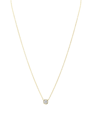 Aqua Sterling Silver Small Circle Pendant Necklace, 16 - 100% Exclusive