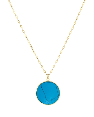 Argento Vivo Disc Pendant Necklace, 24