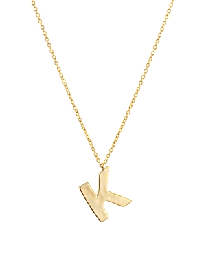 Argento Vivo Hammered Initial Pendant Necklace in 18K Gold-Plated Sterling Silver, 18-20