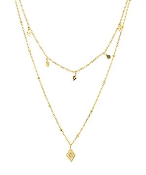 Argento Vivo Layered Pendant Necklace in 14K Gold-Plated Sterling Silver, 14-16