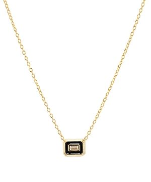Argento Vivo Small Baguette Pendant Necklace in 18K Gold-Plated Sterling Silver, 16-18
