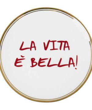 Bitossi Home - Funky Table Plate - La Vita È Bella - 17cm