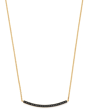 Bloomingdale's Black Diamond Bar Pendant Necklace in 14K Yellow Gold, 17 - 100% Exclusive