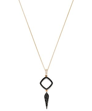 Bloomingdale's Black & White Diamond Geometric Pendant Necklace in 14K Rose Gold, 18 - 100% Exclusive
