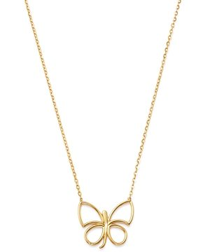 Bloomingdale's Butterfly Pendant Necklace in 14K Yellow Gold, 16 - 100% Exclusive