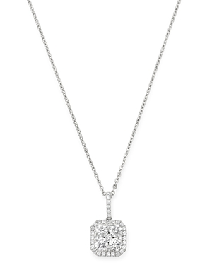 Bloomingdale's Cluster Diamond Pendant Necklace in 14K White Gold, 0.75 ct. t.w. - 100% Exclusive