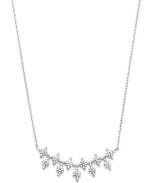 Bloomingdale's Diamond Bar Pendant Necklace in 14K White Gold, 1.0 ct. t.w. - 100% Exclusive