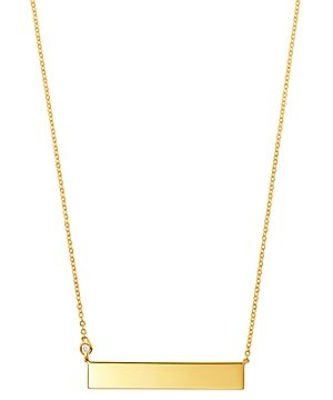 Bloomingdale's Diamond Bar Pendant Necklace in 14K Yellow Gold, 0.03 ct. t.w. - 100% Exclusive