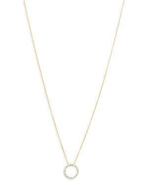 Bloomingdale's Diamond Circle Pendant Necklace in 14K Yellow Gold, 0.30 ct. t.w, 18 - 100% Exclusive