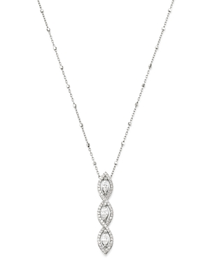 Bloomingdale's Diamond Marquise Pendant Necklace in 14K White Gold, 16-18 - 100% Exclusive
