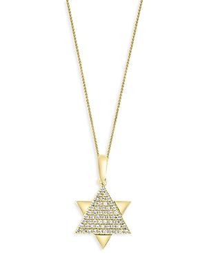 Bloomingdale's Diamond Star of David Pendant Necklace in 14K Yellow Gold, 18, 0.15 ct. t.w. - 100% Exclusive