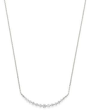 Bloomingdale's Graduated Diamond Bar Pendant Necklace in 14K White Gold, 1.0 ct. t.w. - 100% Exclusive