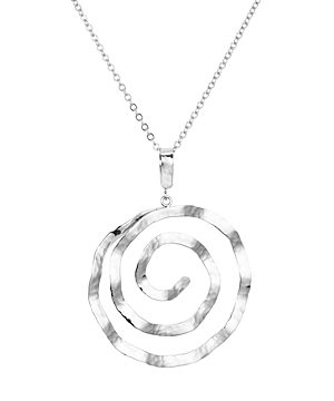 Bloomingdale's Hammered Spiral Pendant Necklace, 17 - 100% Exclusive