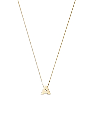Bloomingdale's Initial A Pendant Necklace in 14K Yellow Gold, 16 - 100% Exclusive