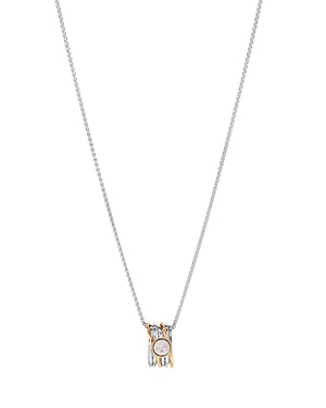 Bloomingdale's Marc & Marcella Diamond Pendant Necklace in Sterling Silver & 14K Rose Gold-Plated Sterling Silver, 0.08 ct. t.w, 17 - 100% Exclusive