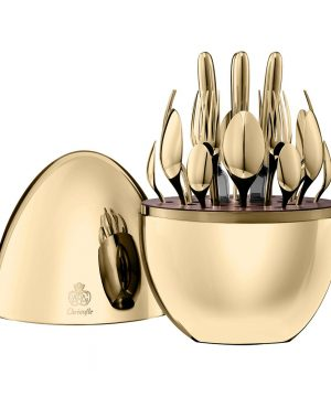 Christofle - Mood Cutlery Egg - Set of 24 - 24 Carat Gold
