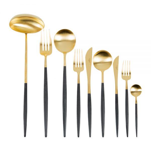 Cutipol - Goa Cutlery Set - 75 Piece - Black/Gold