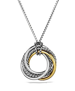 David Yurman Crossover Small Pendant Necklace with 14K Gold