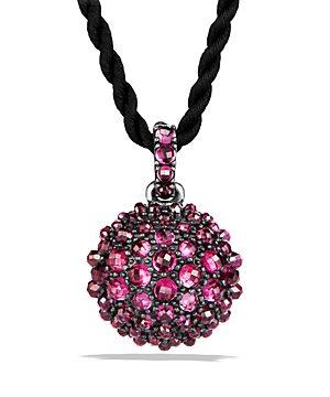 David Yurman Osetra Pendant Necklace with Rhodalite Garnet