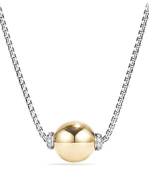 David Yurman Solari Pendant Necklace with Diamonds and 18K Gold