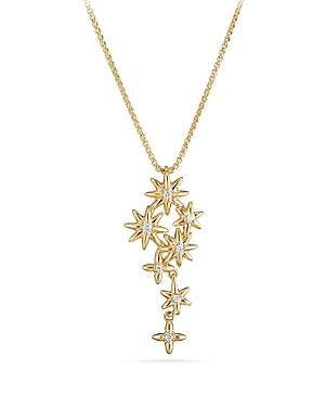 David Yurman Starburst Constellation Pendant necklace in 18K Gold with Diamonds