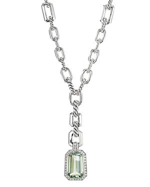 David Yurman Stax Drop Pendant with Prasiolite and Diamonds