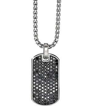 David Yurman Streamline Tag Pendant with Pave Black Diamonds